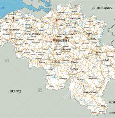 Bản đồ khổ lớn nước Bỉ