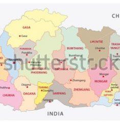 Bản đồ khổ lớn nước Bhutan