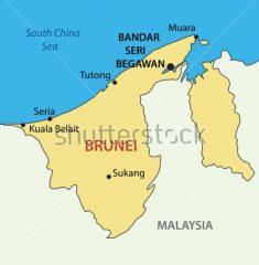Bản đồ khổ lớn nước Brunei