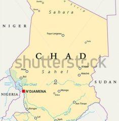Bản đồ khổ lớn nước Chad