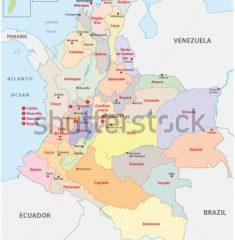 Bản đồ khổ lớn nước Colombia
