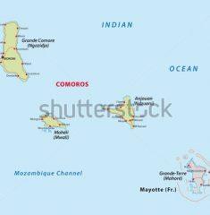Bản đồ khổ lớn nước COMOROS