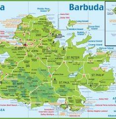 Bản đồ khổ lớn Antigua và Barbuda