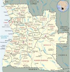 Bản đồ khổ lớn nước Angola
