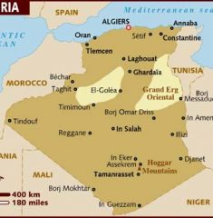 Bản đồ khổ lớn nước Algerie